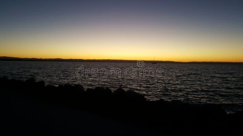 Нега ночного неба стоковые изображения rf