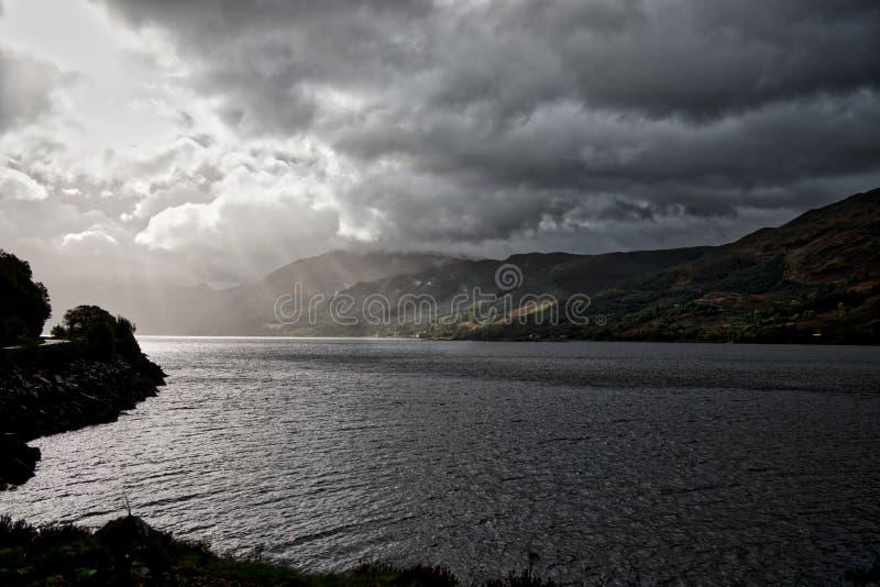 Негостеприимное озеро Duich стоковое изображение
