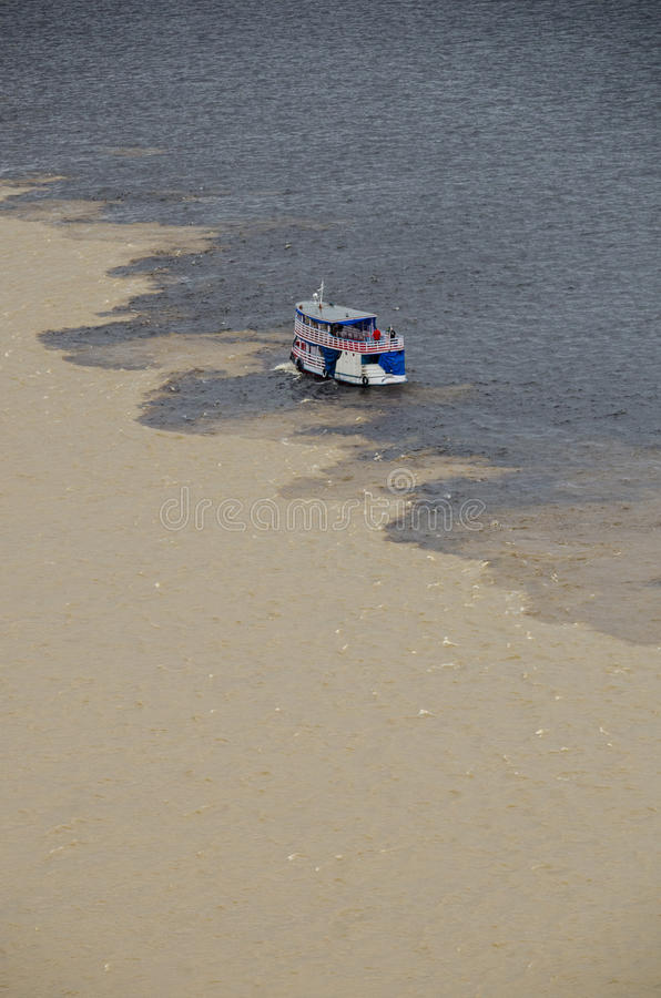 Águas Encontro das. стоковая фотография