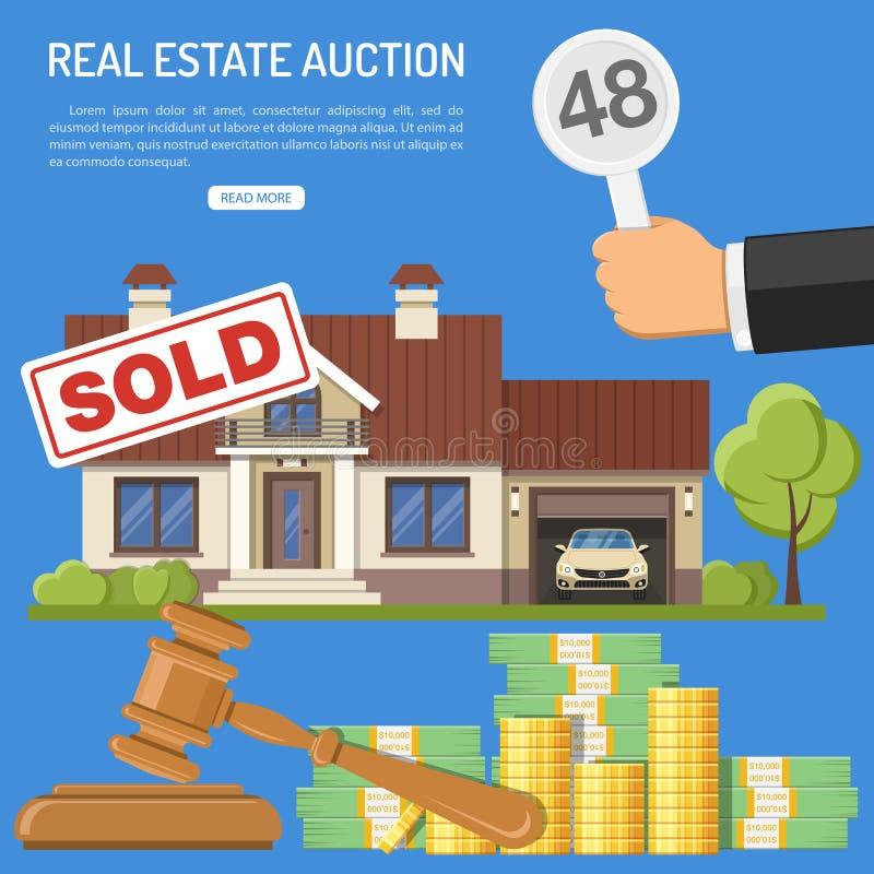 недвижимость продажи на аукционе бесплатная иллюстрация