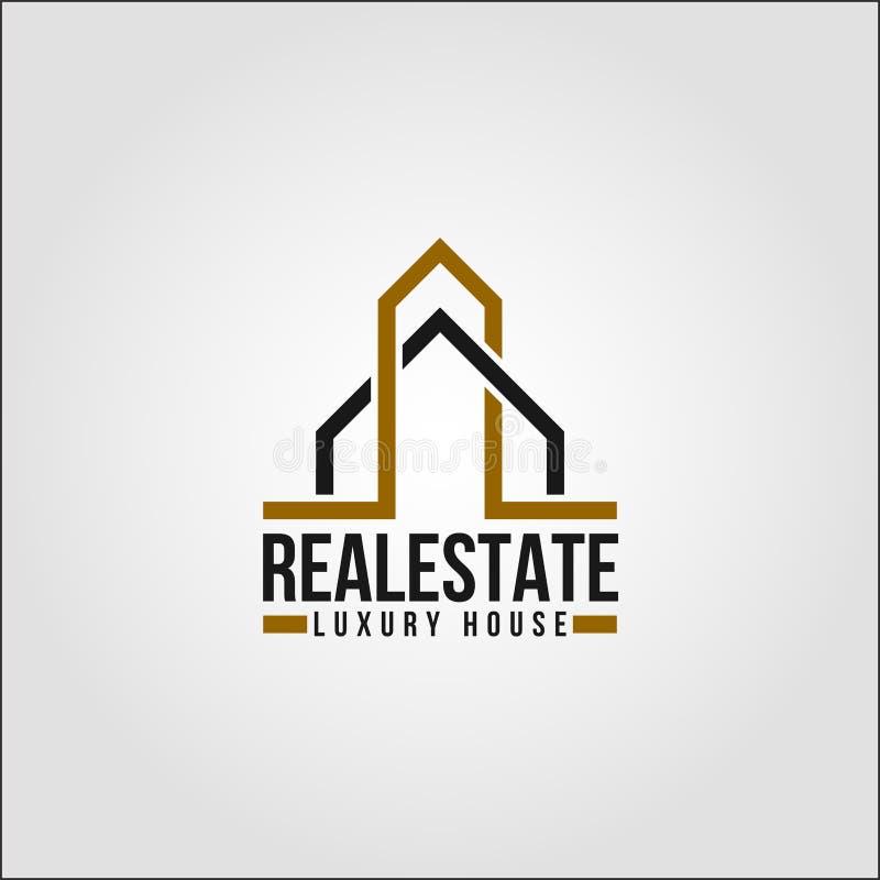 Недвижимость - шаблон логотипа свойства Elte иллюстрация штока