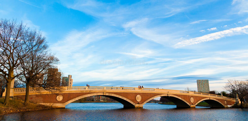 недели мемориала footbridge стоковые изображения rf