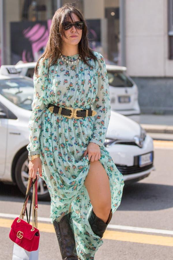 Неделя 2018 моды женщины милана стоковая фотография