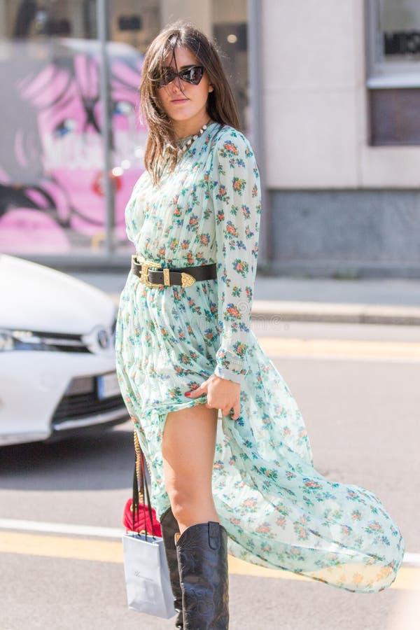 Неделя 2018 моды женщины милана стоковое изображение rf
