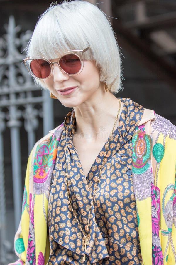 Неделя 2018 моды женщины милана стоковое изображение