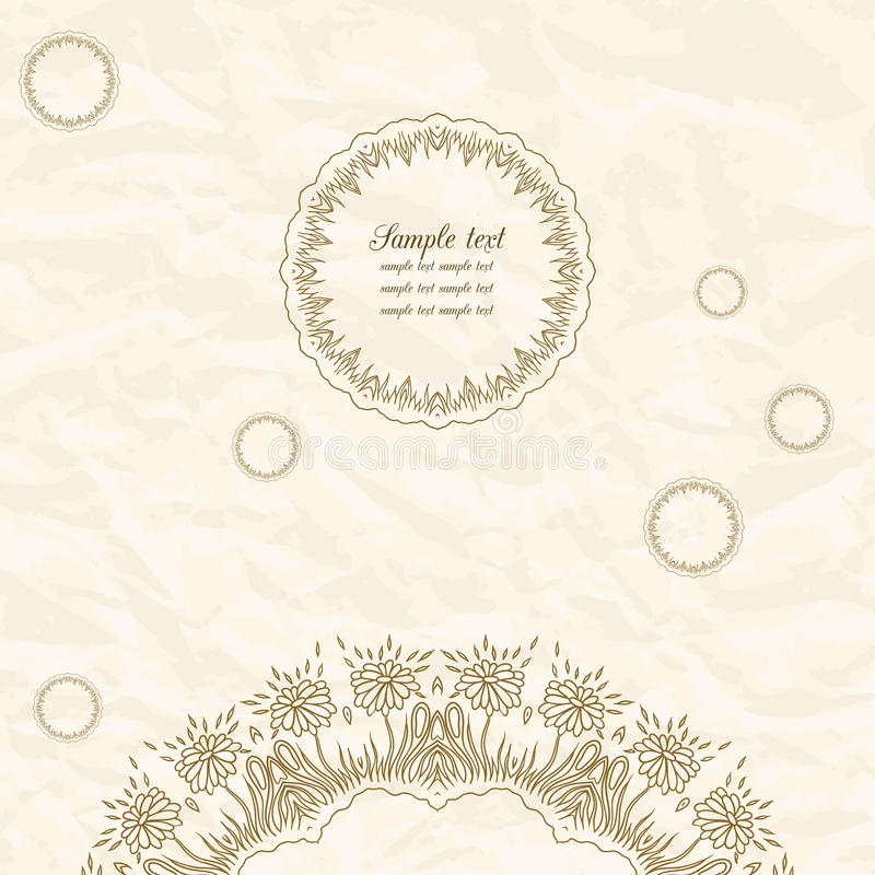 Нежная поздравительная открытка шнурка иллюстрация штока