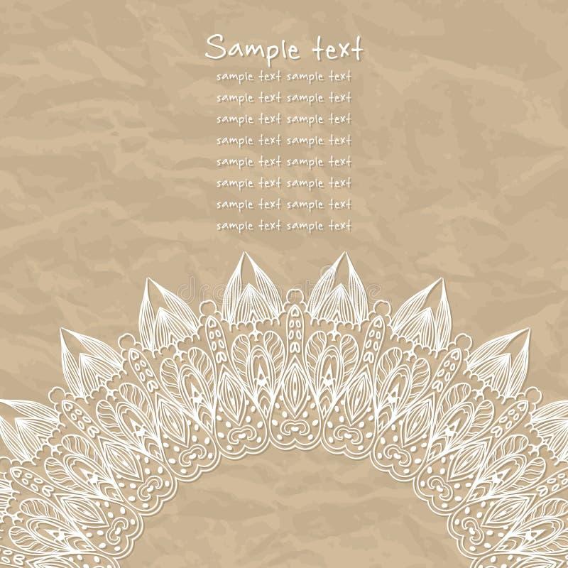 Нежная поздравительная открытка шнурка бесплатная иллюстрация