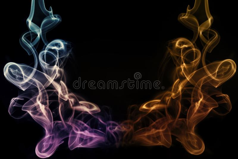 Нежность конспекта художественная красочная и ровная предпосылка влияния дыма бесплатная иллюстрация