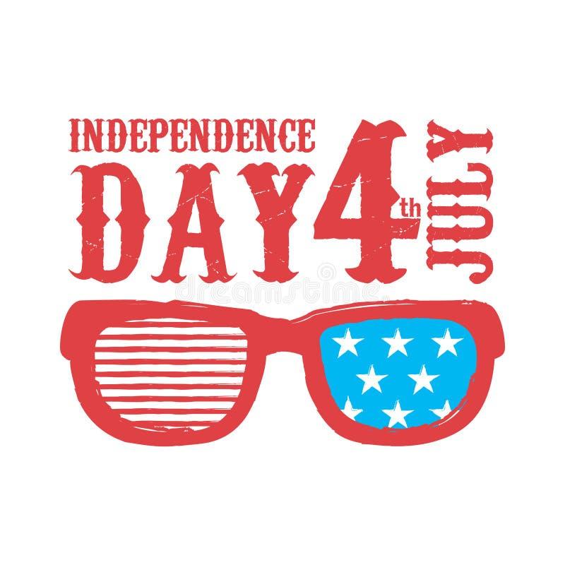 независимость дня счастливая 4-ое июля иллюстрация вектора