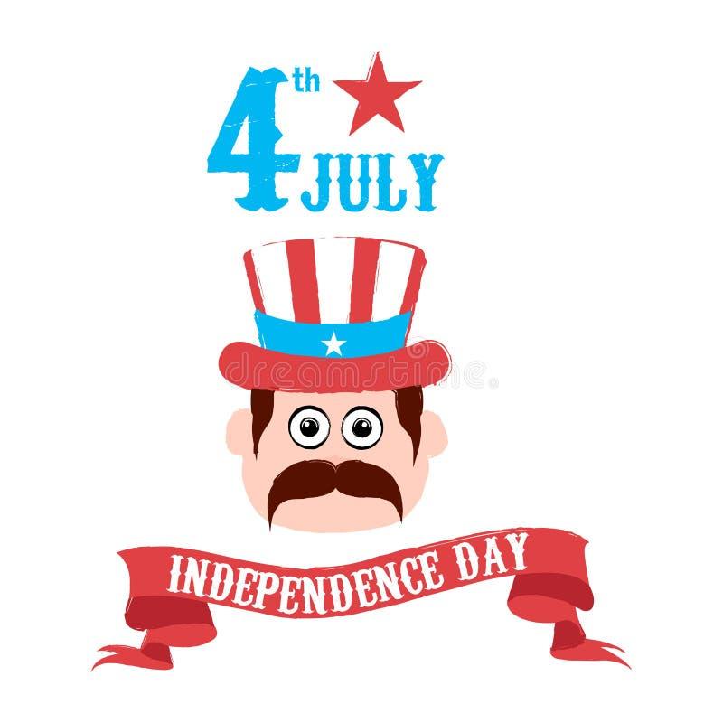 независимость дня счастливая 4-ое июля бесплатная иллюстрация