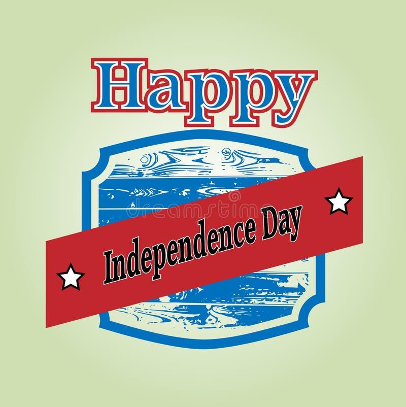 независимость дня счастливая иллюстрация вектора
