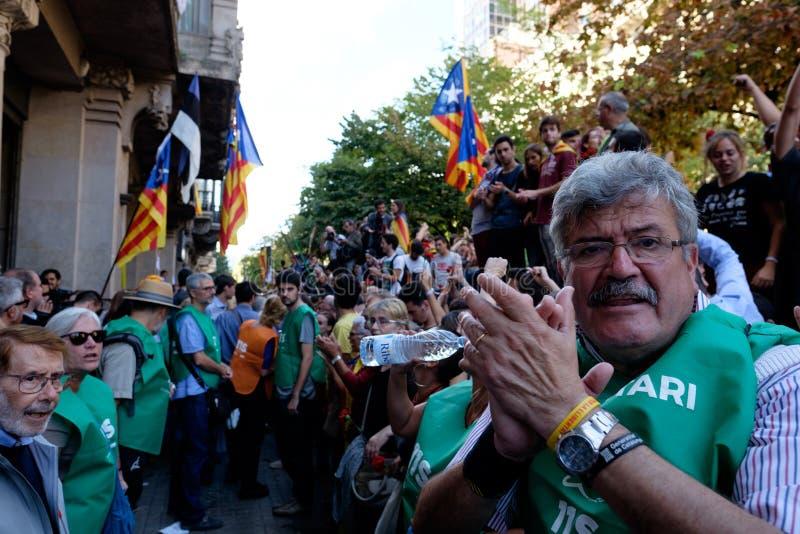 Независимость Каталония 20/09/2017 демонстрации стоковое изображение