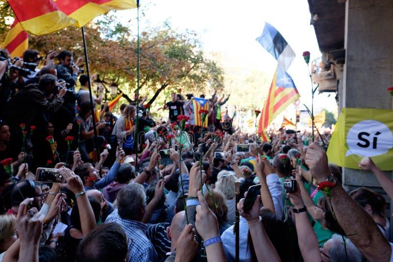 Независимость Каталония 20/09/2017 демонстрации стоковая фотография rf