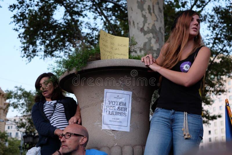 Независимость Каталония 20/09/2017 демонстрации стоковое фото rf