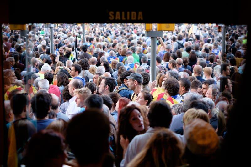 Независимость Каталония 20/09/2017 демонстрации стоковые фотографии rf