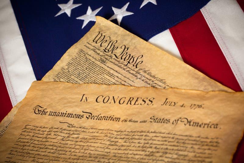 независимость флага объявления конституции стоковая фотография