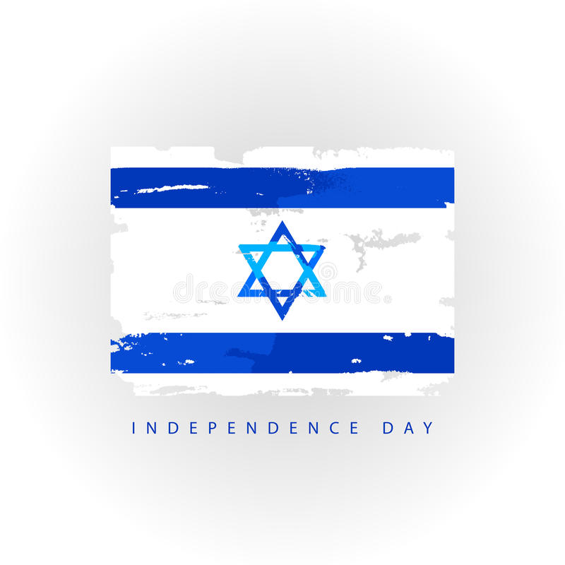 независимость grunge дня предпосылки ретро flag Израиль иллюстрация штока