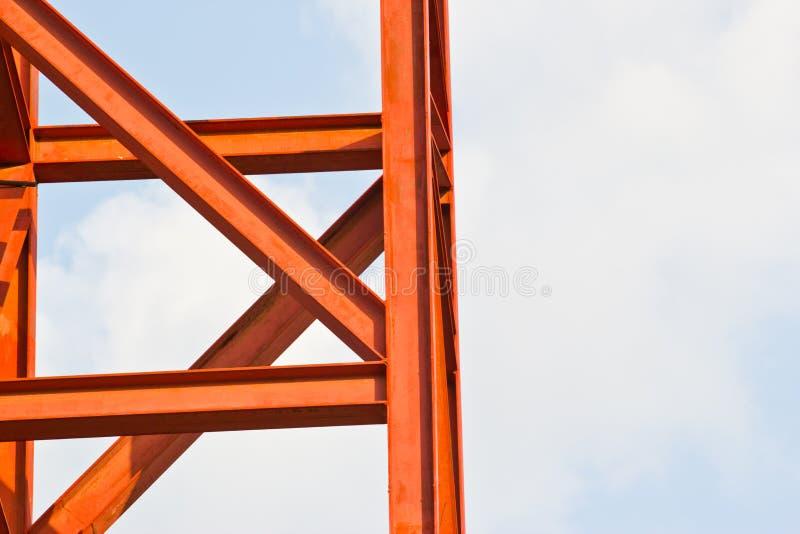 Незаконченные здания стальной структуры в фабрике стоковое изображение