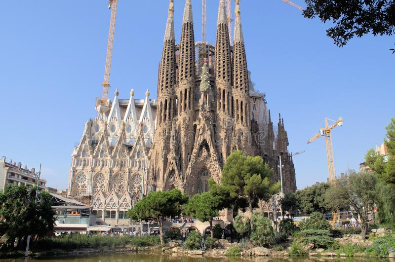 Собор Барселона Испания SagradaFamilia стоковые изображения