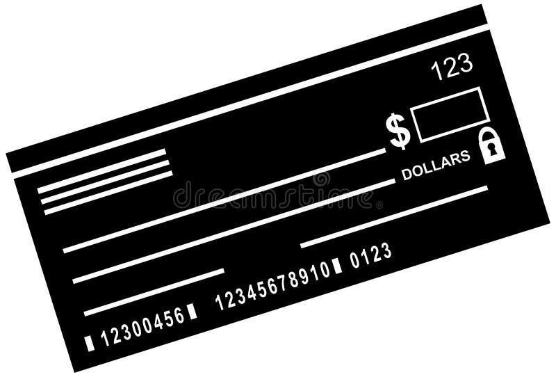 незаполненный чек иллюстрация вектора