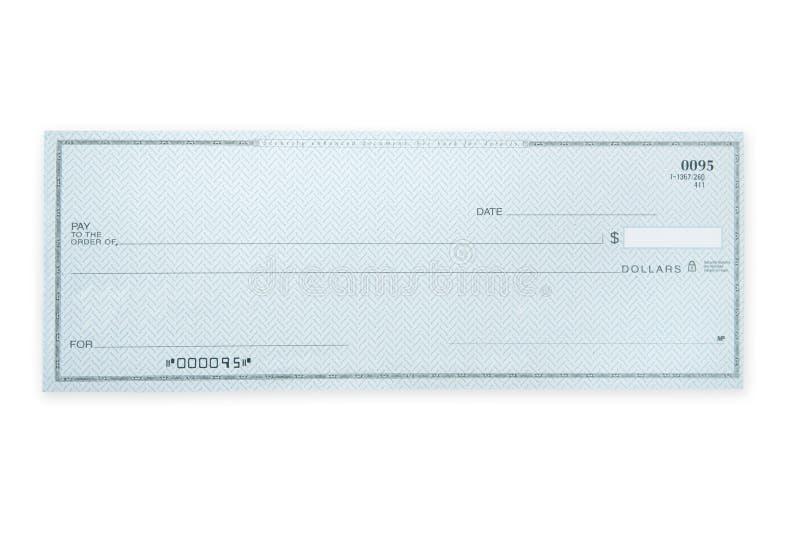 незаполненный чек стоковое фото