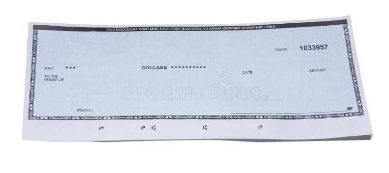 незаполненный чек стоковая фотография