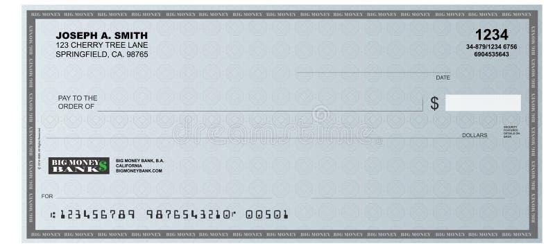 Незаполненный чек стоковые фото