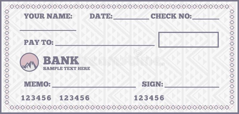 Незаполненный чек иллюстрация штока