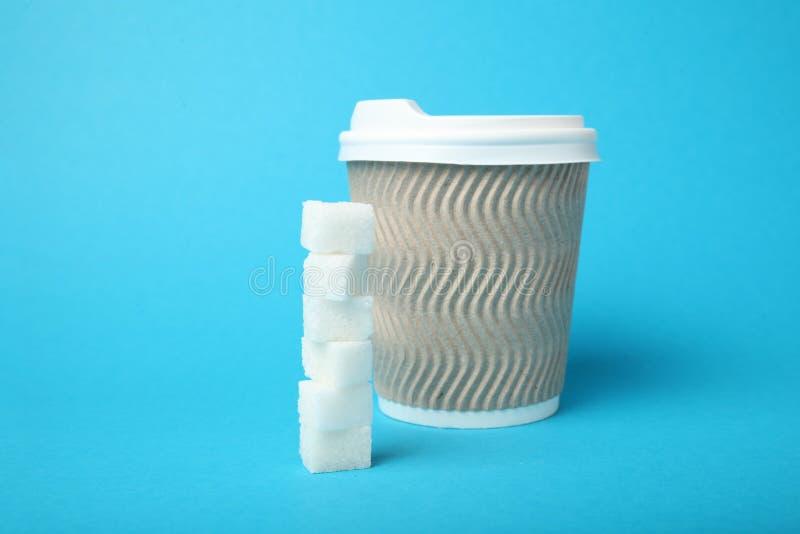 Нездоровая концепция напитка, кофе сахара диабетический стоковое фото rf