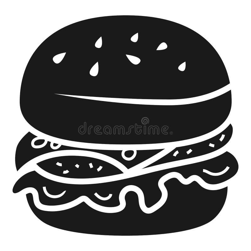 Нездоровый значок бургера, простой стиль бесплатная иллюстрация