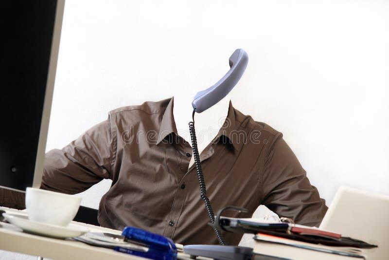 Незримый человек в его офисе стоковые фотографии rf