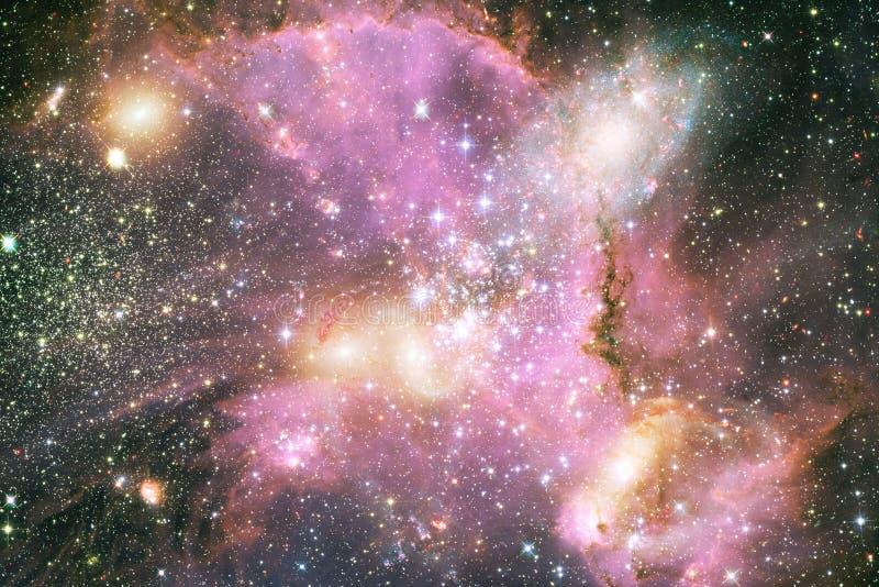 Неимоверно красивая галактика где-то в глубоком космосе Обои научной фантастики стоковое изображение rf