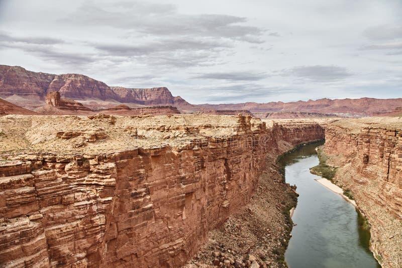 Неимоверно красивый вид от bridige на гранд-каньоне, Аризоны Навахо, США стоковое изображение