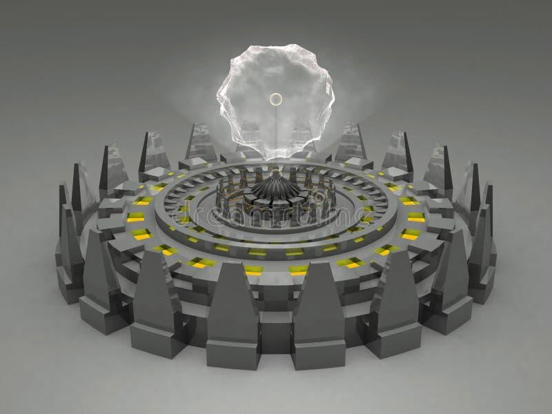 неисвестне машины alien фантазии футуристическое иллюстрация вектора