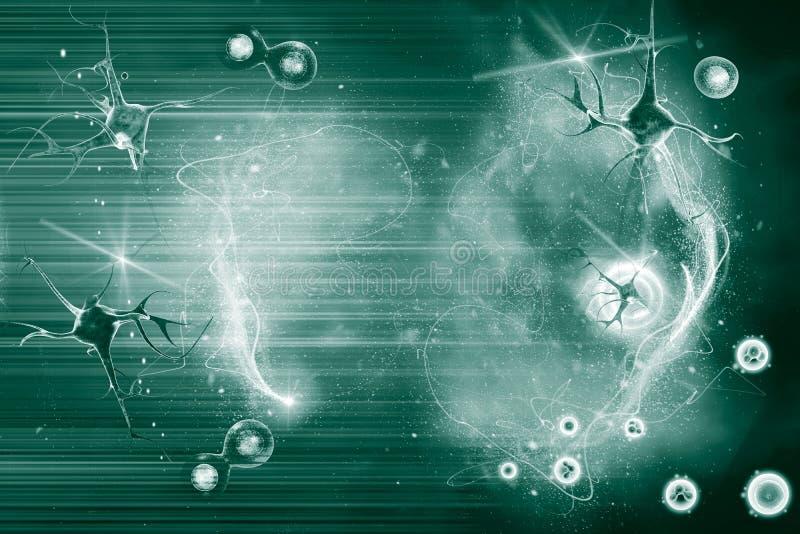 Нейрон и клетка бесплатная иллюстрация