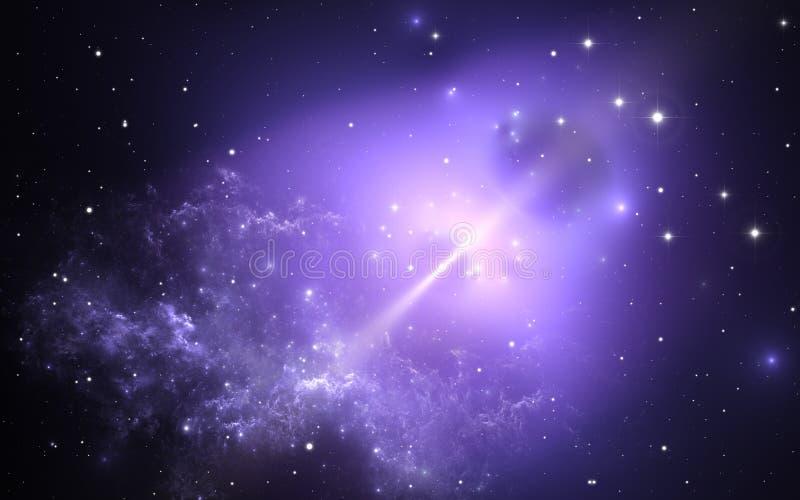 Нейтронная звезда Предпосылка космоса иллюстрация вектора