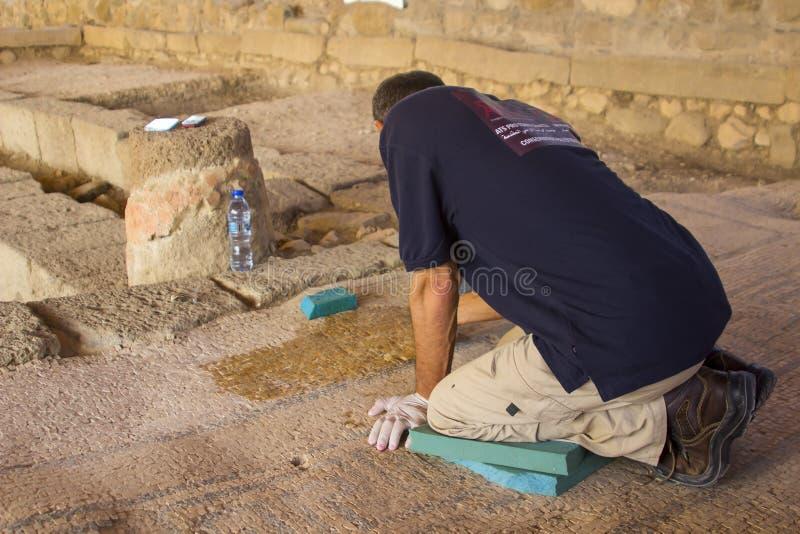 Некоторые из реставрационных работ на старой деревне Magdala i стоковые фотографии rf