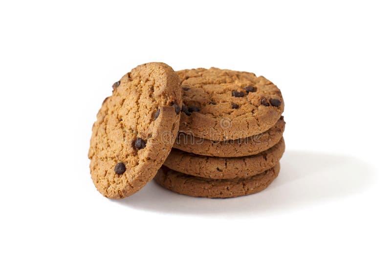 Некоторые домодельные печенья с куски шоколада стоковое фото rf