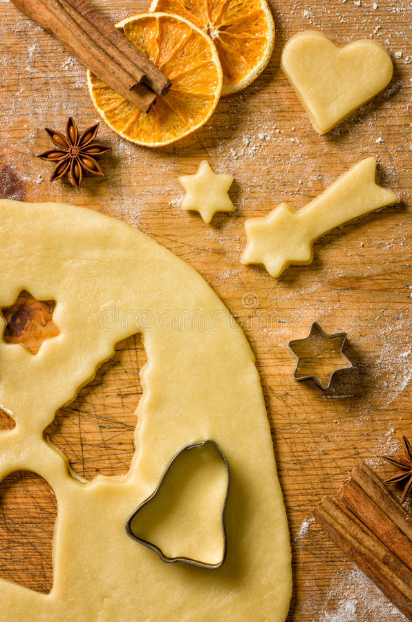Некоторые печенья рождества стоковое изображение