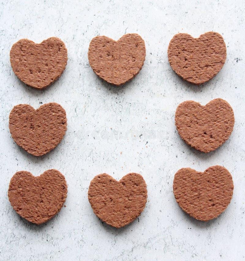 Некоторые похожие на сердц торты стоковые фото
