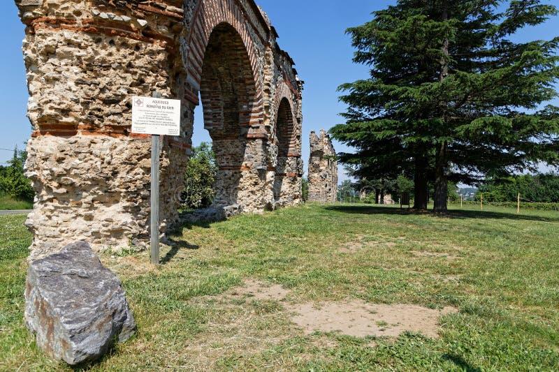 Некоторые своды римского мост-водовода стоковые фотографии rf