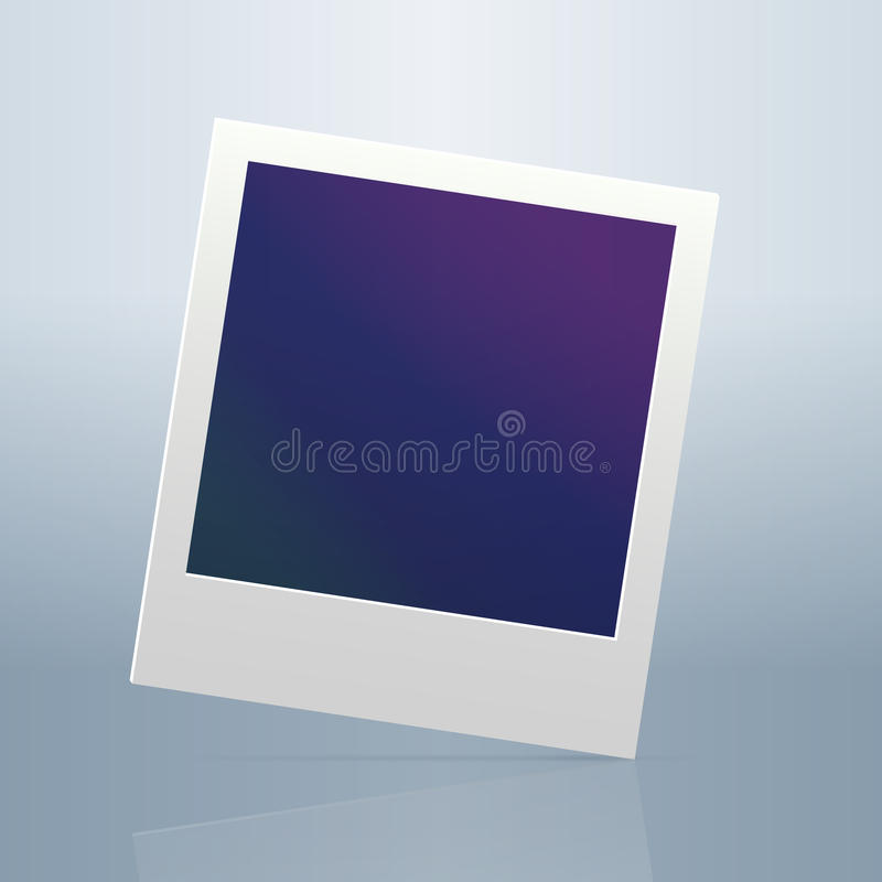 Немедленная пустая рамка фото иллюстрация штока