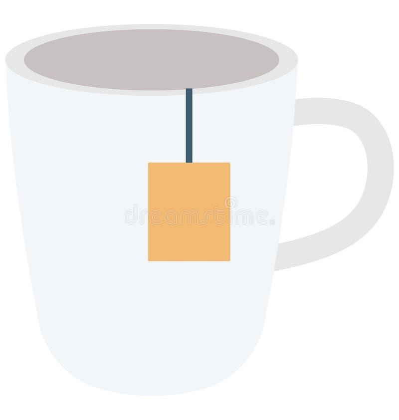 Немедленный значок вектора цвета чая который может легко доработать или отредактировать иллюстрация штока