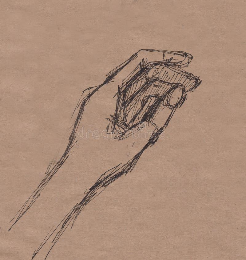 Немедленный эскиз, рука стоковое фото rf
