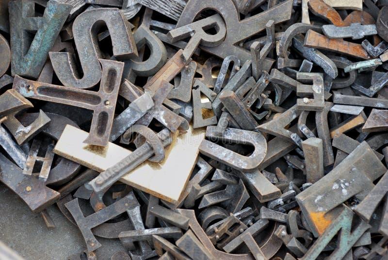 немецкие письма сделали металл стоковая фотография rf
