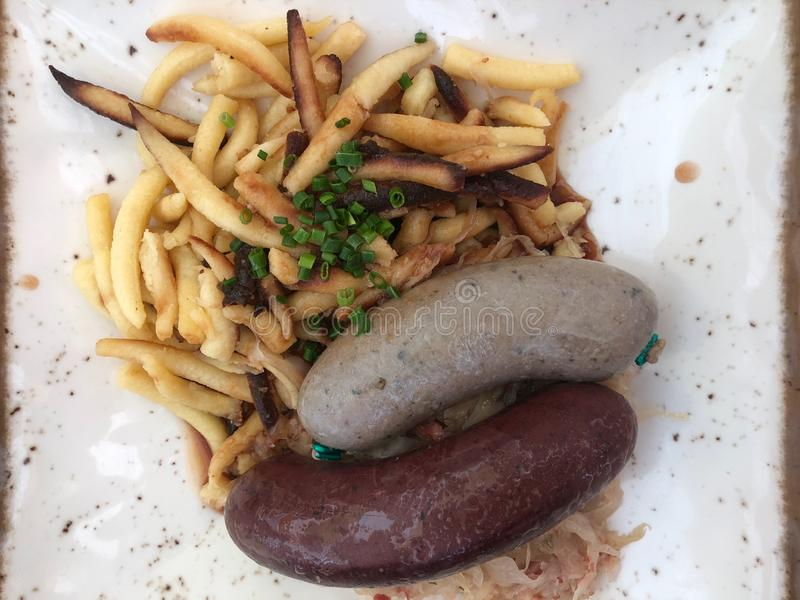 Немецкие сосиски крови и печени стоковое фото