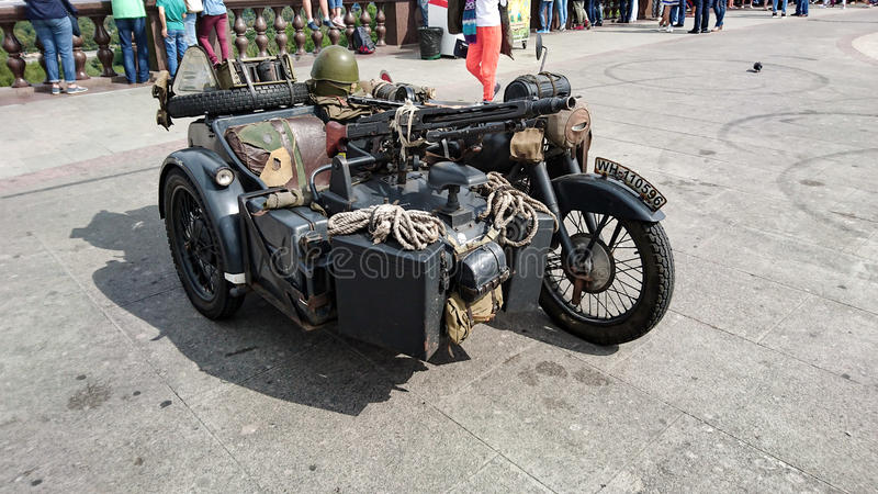 Немецкий воинский мотоцикл стоковая фотография