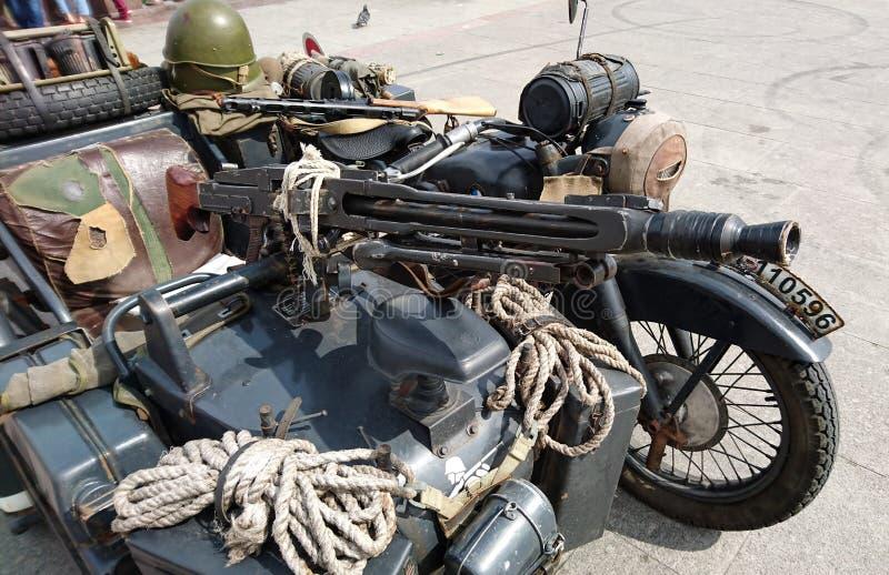 Немецкий воинский мотоцикл стоковые изображения