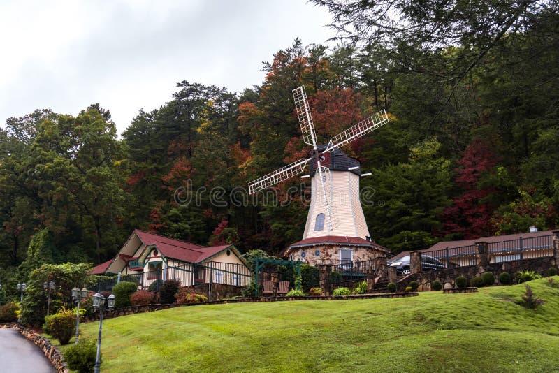Немецкий город Хелен в Грузии стоковое изображение