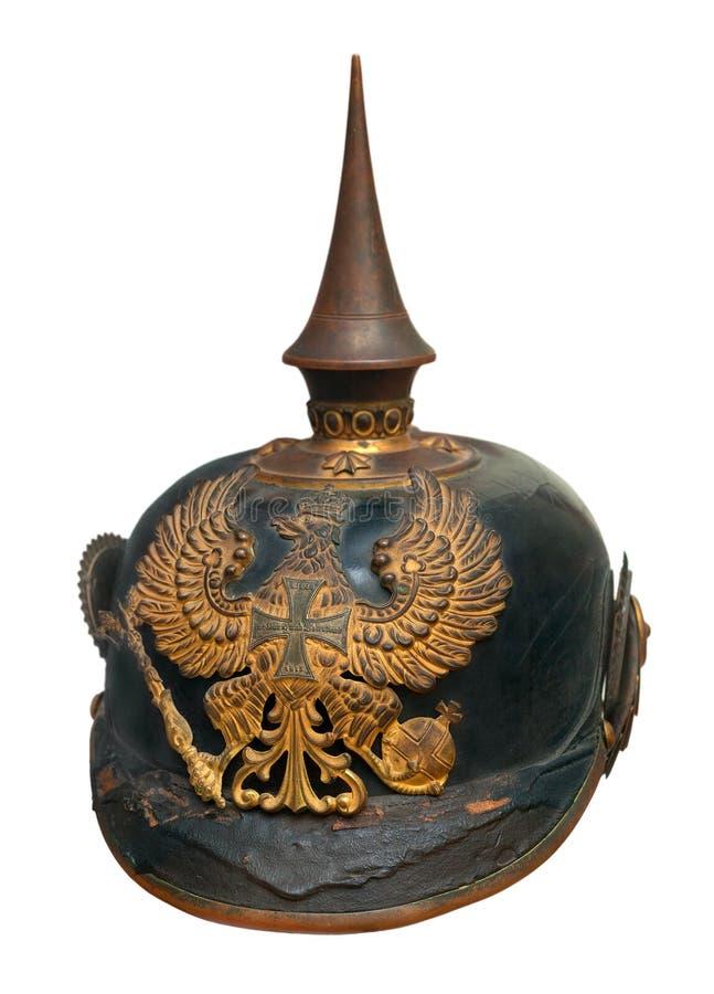 Немецкий имперский воинский шлем стоковые изображения rf